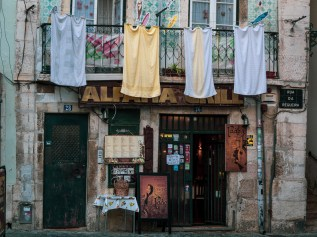 Laundry drying in Alfama