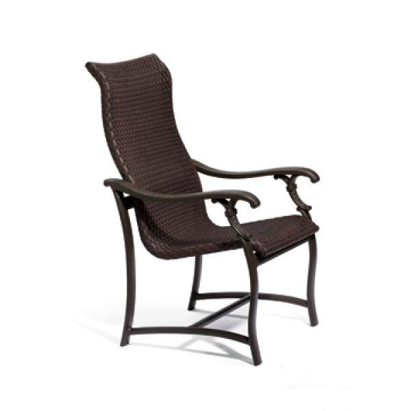 high back dining chair cool chairs for boys room tropitone ravello highback wicker com