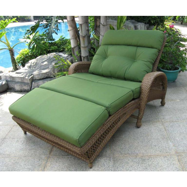 longboat key casa del mar adjustable double wicker chaise lounge