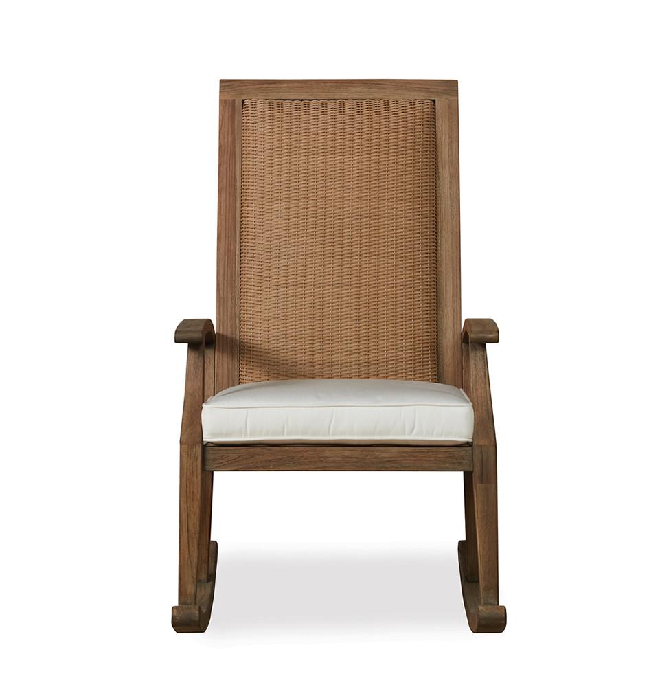 Lloyd Flanders Wildwood Highback Wicker Rocking Chair