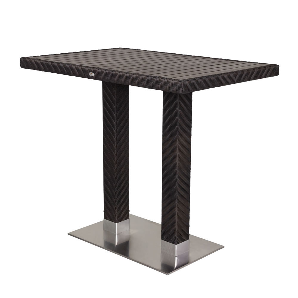 Source Outdoor Arizona Rectangular Wicker Bar Table