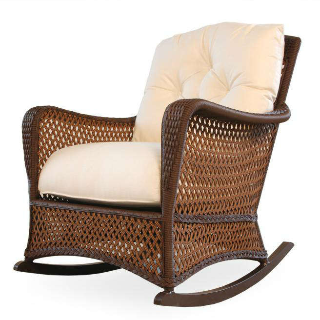 wicker rocking chairs second hand chair covers and sashes lloyd flanders grand traverse lounge rocker com