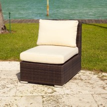 Source Outdoor Lucaya Wicker Armless Lounge Chair