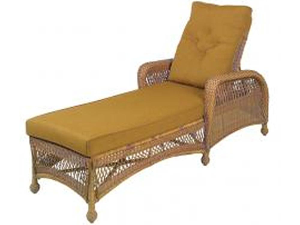 Longboat Key Casa Del Mar Wicker Adjustable Chaise Lounge