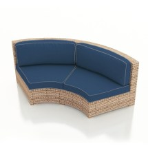 Patio Hampton Wicker Curved Sofa