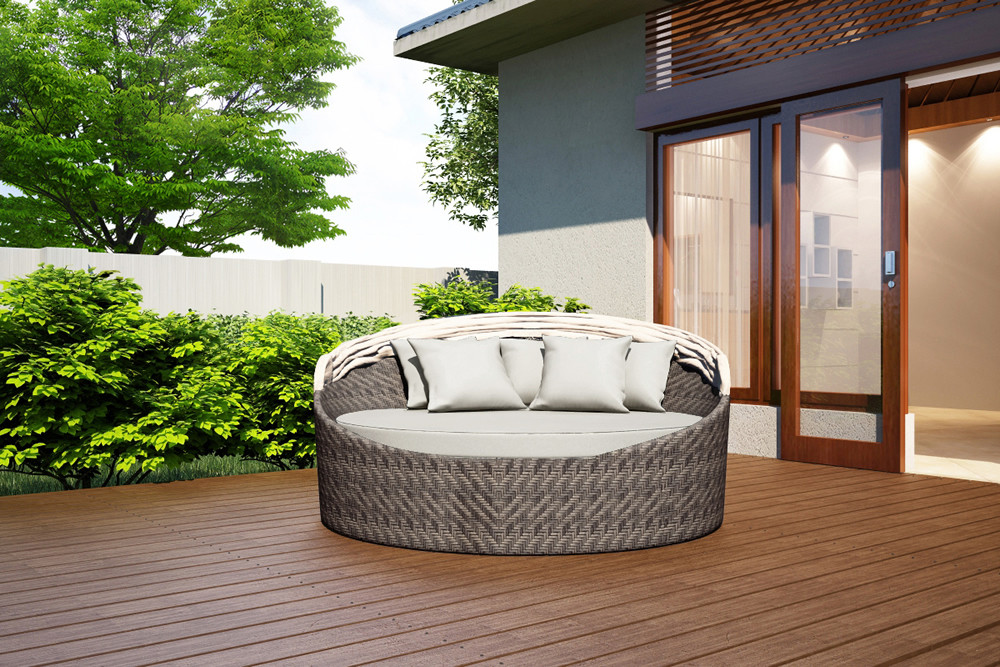 Harmonia Living Wink Wicker Daybed Custom Cushion Fabric