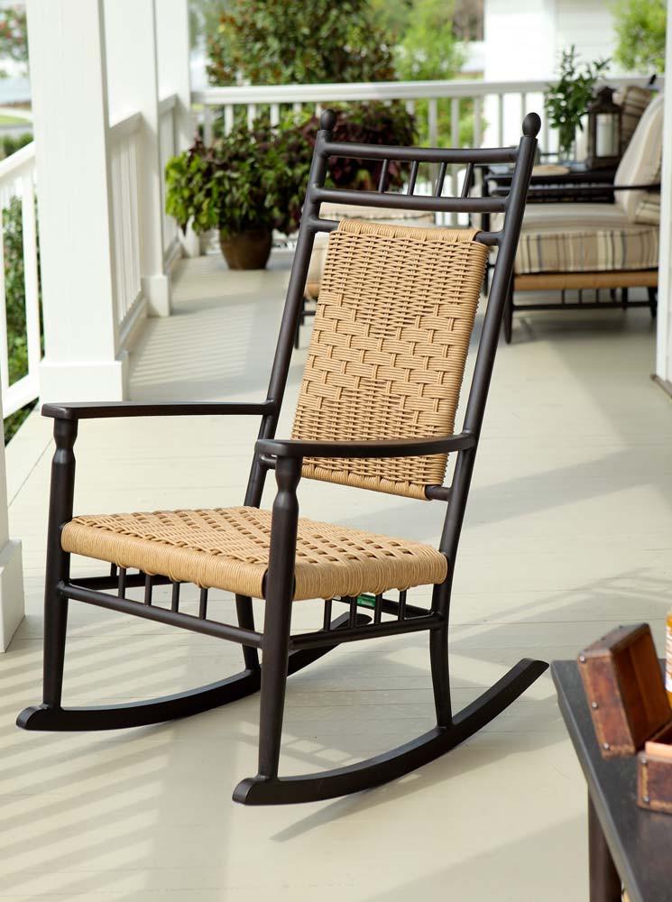black wicker rocking chair outdoor sex machine lloyd flanders low country porch rocker - wicker.com