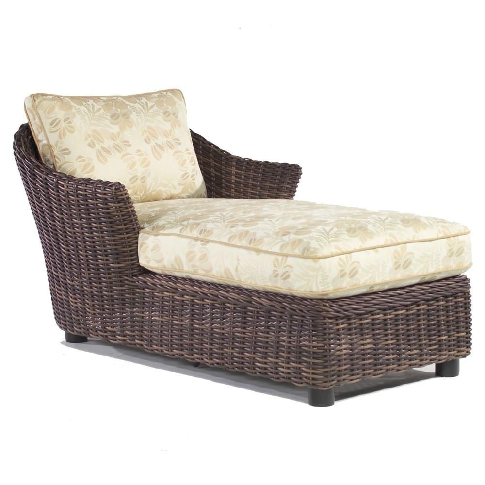 Whitecraft by Woodard Sonoma Wicker Chaise Lounge  Wickercom