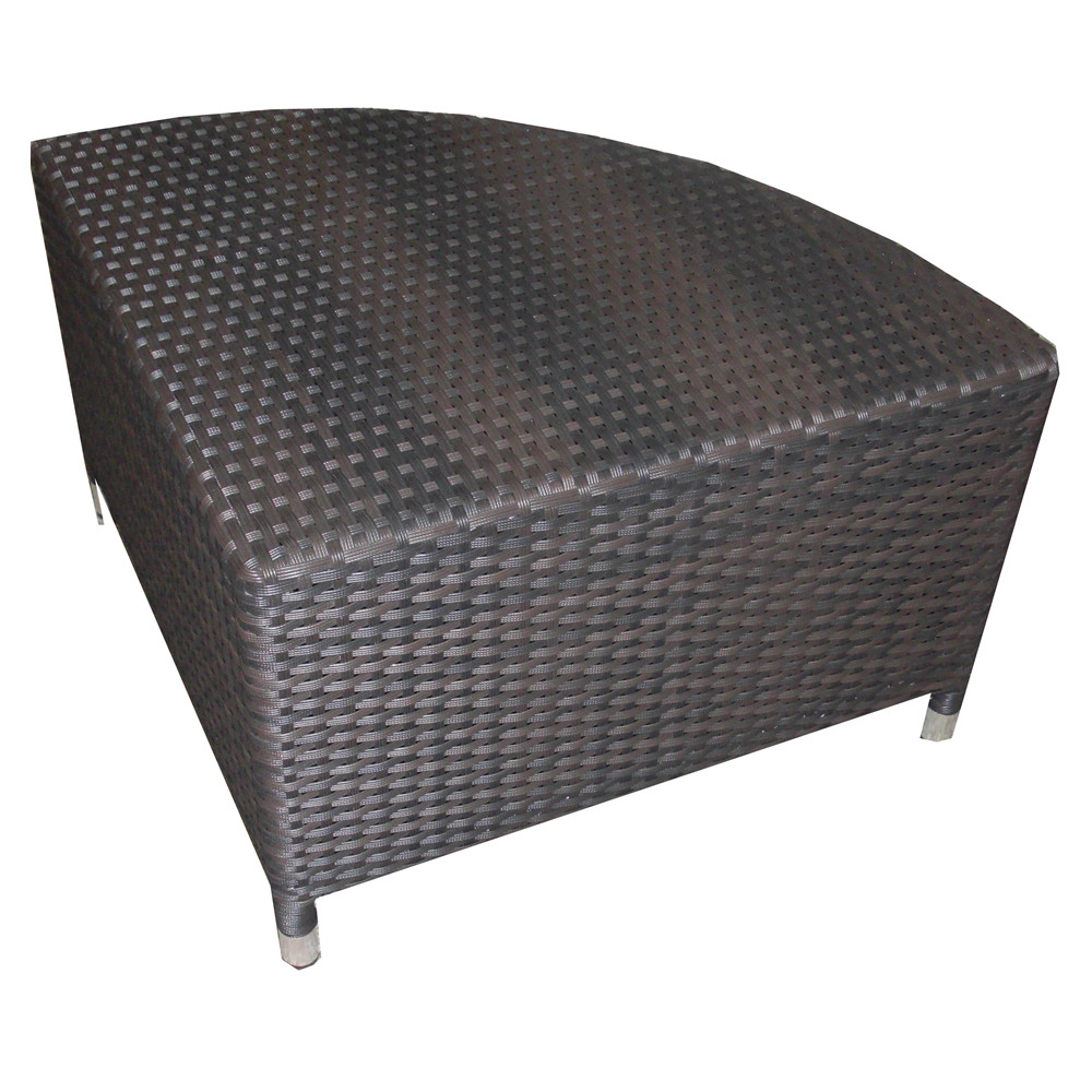 Source Outdoor Circa Wicker 1/4 Round Coffee Table