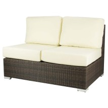 Source Outdoor Lucaya Wicker Armless Love Seat