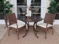 Dining Table Patio Set For 2 // Wicker.com - Wicker.com