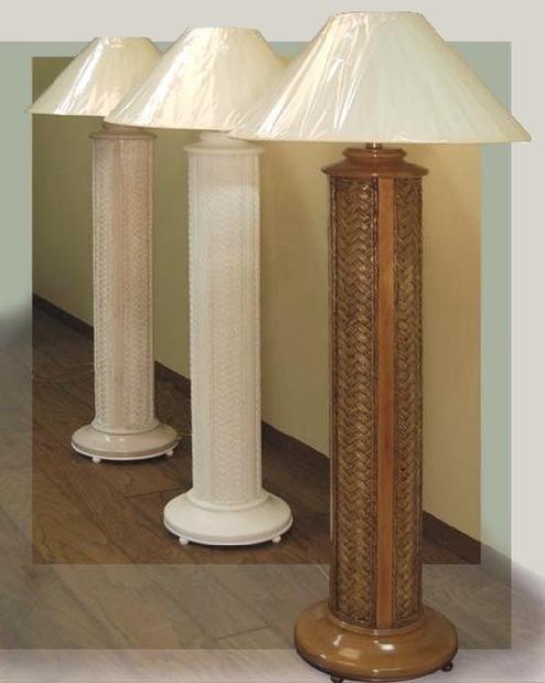 Wicker Floor Lamps  White Standing Lamp