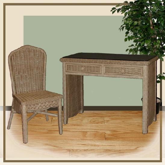 Wicker Desks  Wicker Office Furniture