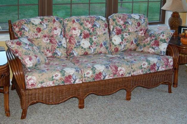 Indoor Wicker Furniture  Rattan Living Room Set