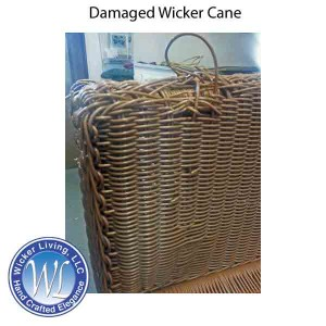 how to replace cane back chair with fabric student task 10 steps repair damaged wicker furniture reed missing or