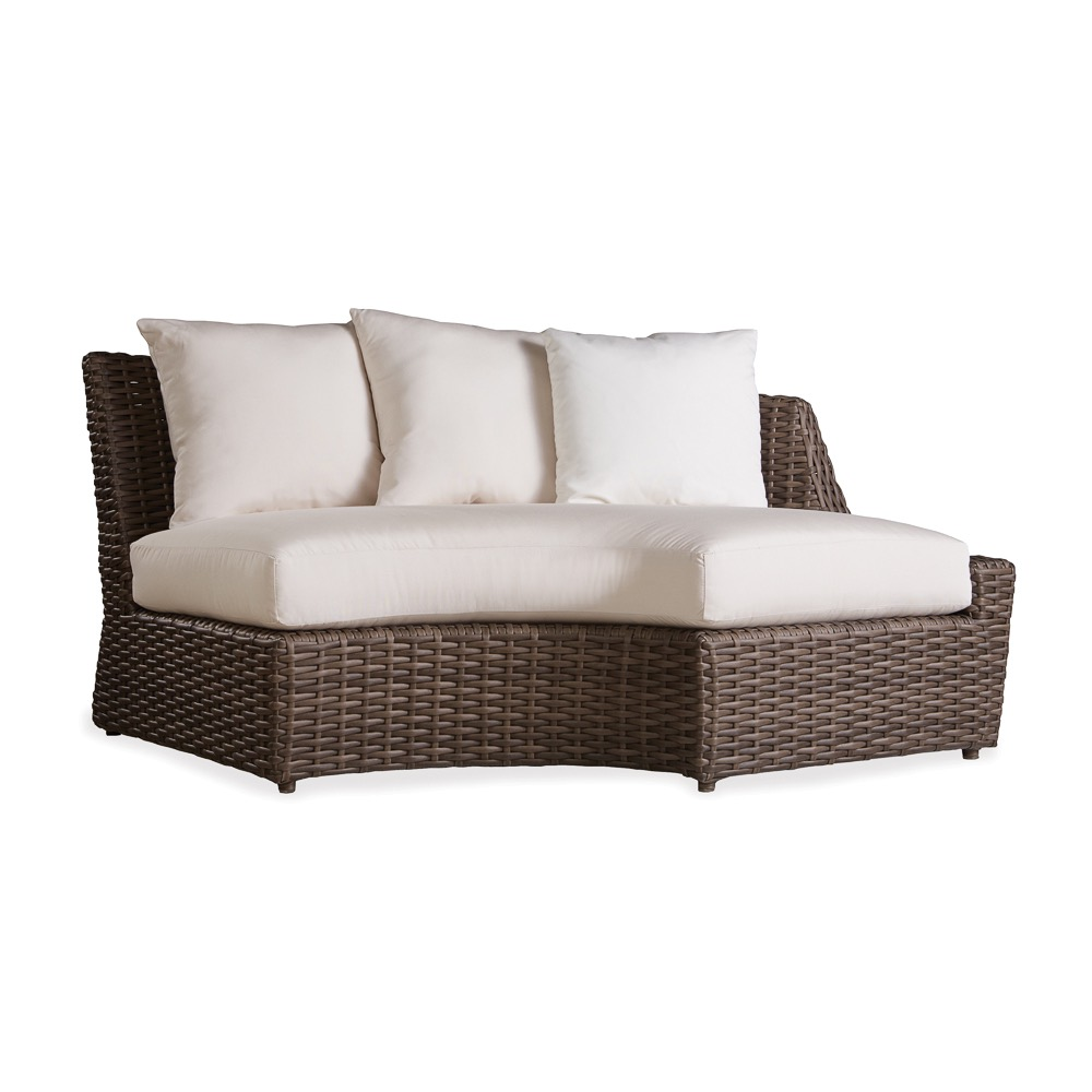 largo outdoor wicker left arm curved sofa sectional