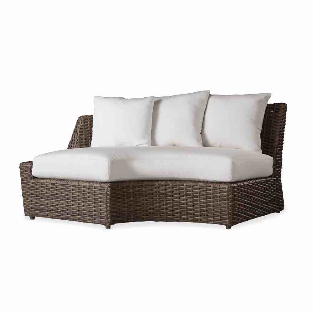 largo outdoor wicker right arm curved sofa sectional