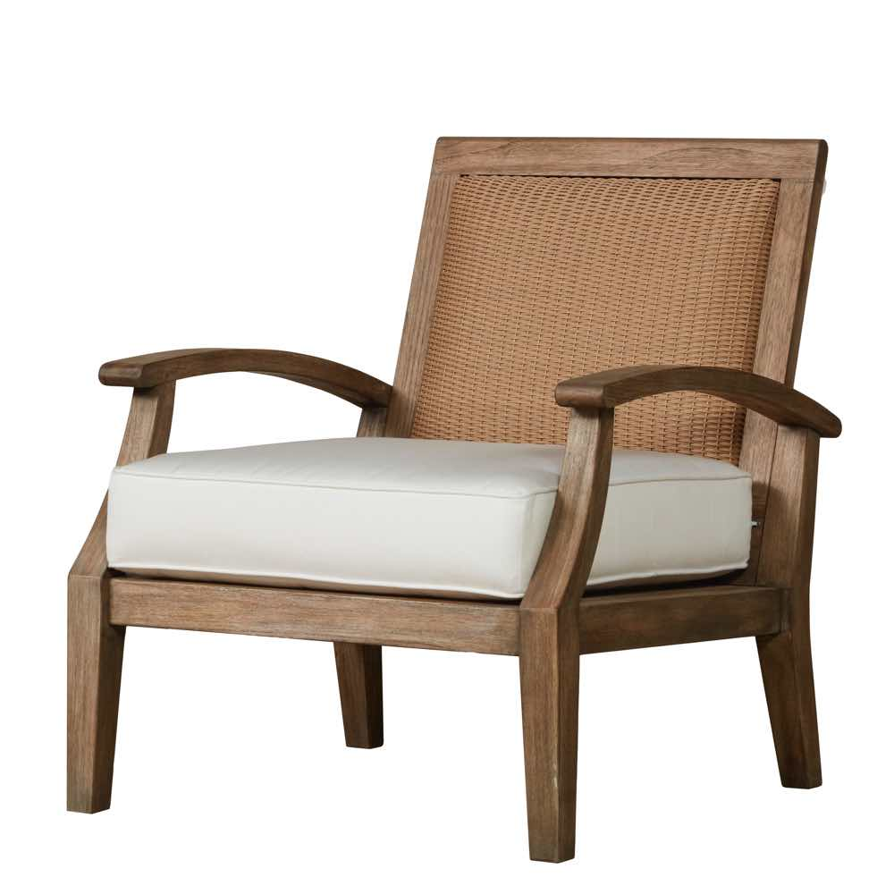 teak lounge chair top rated executive office chairs outdoor furniture lloyd flanders wildwood with loom back
