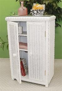 Wicker Linen Cabinet