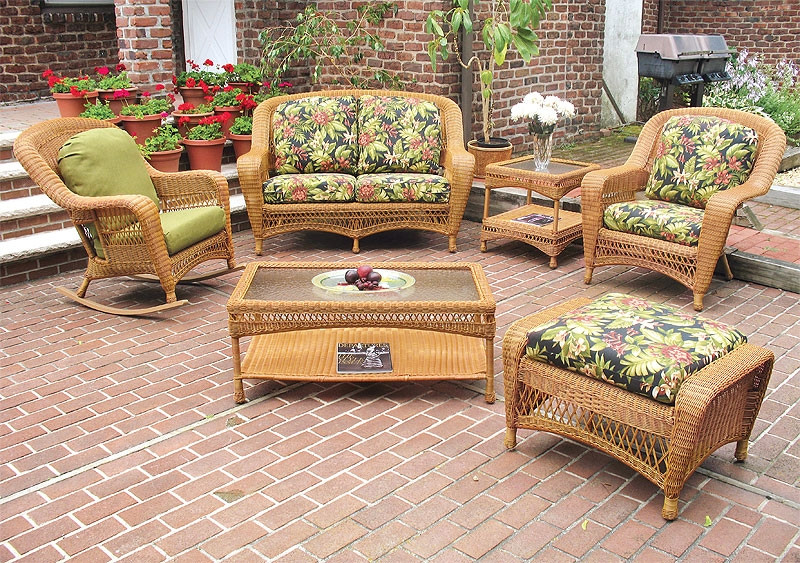 resin wicker chair with ottoman dining side chairs leather 5 piece palm springs furniture set love seat