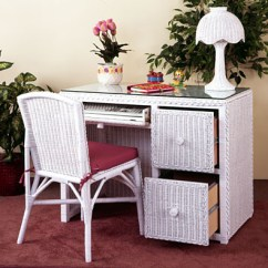 Desk Chair On Wood Floor Garden Recliner Covers Traditional Wicker W/file Cabinet Drawers &