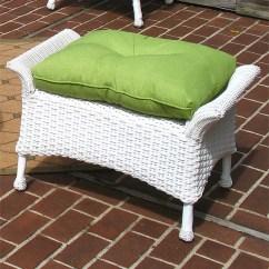 Resin Wicker Chair With Ottoman White High Back Dining Chairs Veranda Cushion