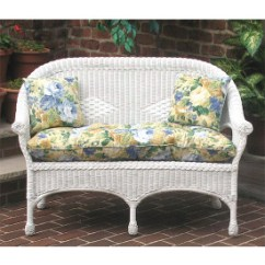 Cushions For Wicker Chairs Folding Chair Nathaniel Alexander Furniture Replacement Love Seat Midsize Loveseat Popular Size