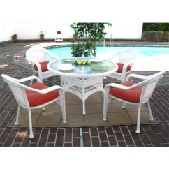 White Resin Wicker Chairs How To Reupholster Patio Furniture Sets And Dining Set 48 Round