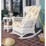 wicker rocking chair white desk for kids vintage natural