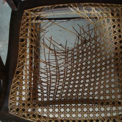 Repair Rattan Chair Seat Target Armless Slipcover Need Your Cane Rewoven Get Caning Help Here Broken At Rail