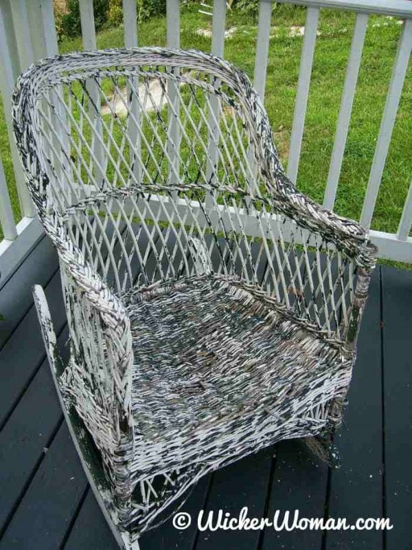 where to buy wicker chairs steelcase reply chair painting furniture hints tips solutions paint like a pro reed rocker with flaking