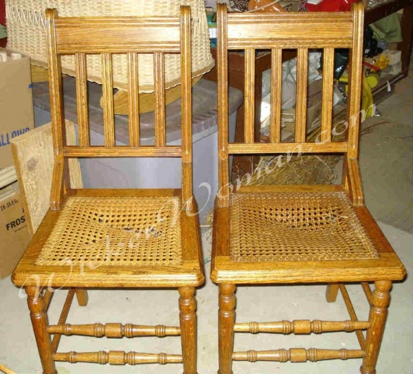 Chair Caning Instructions  Howto Cane Chairs by Hand