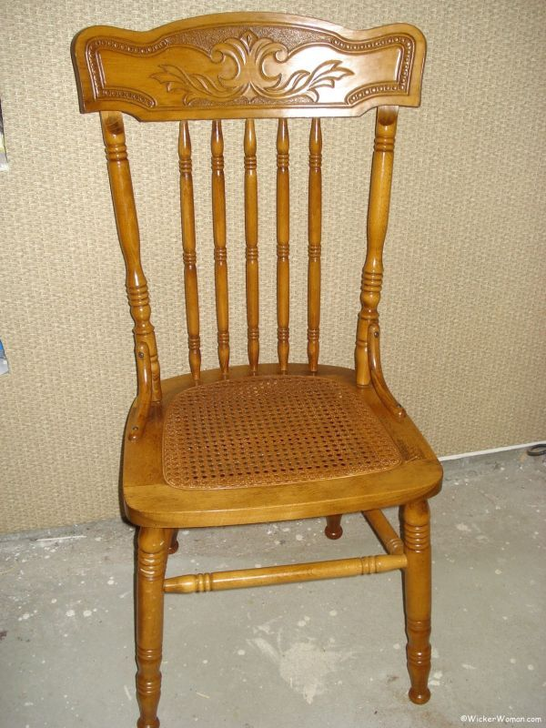 repair rattan chair seat ergonomic visitor how to install cane webbing sheet pressed caning repaired