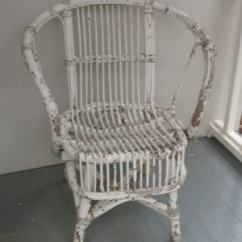 Antique Wicker Chairs Video Game Chair Walmart Furniture Materials Paper Rattan Bamboo Stick Circa 1930s