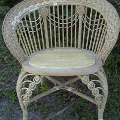 Heywood Wakefield Wicker Chairs Living Room With Accent Antique Furniture #101--history, Repair, Tips