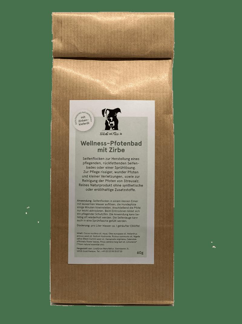 Zirbe Pfotenbad Hundepfote Gesundheit
