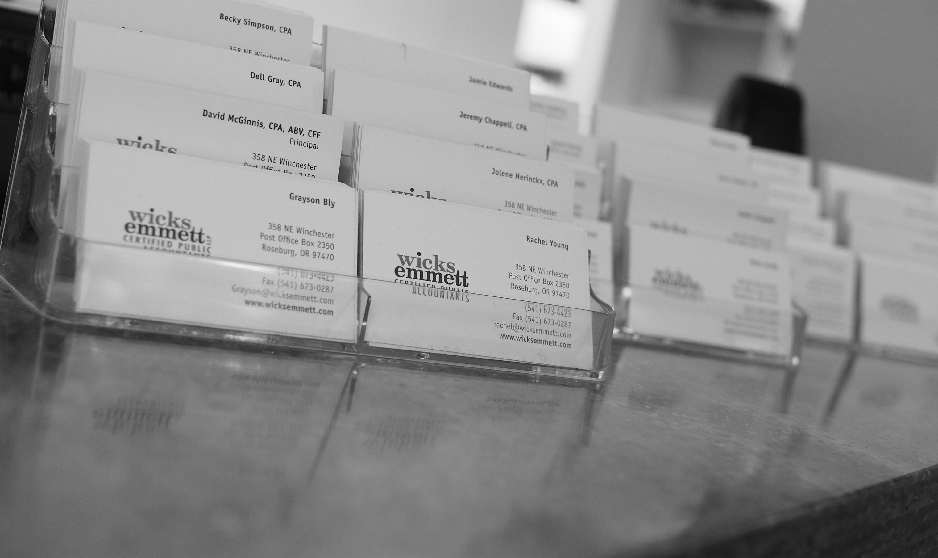 wicks-emmett-business-cards-background | Wicks Emmett CPA Firm