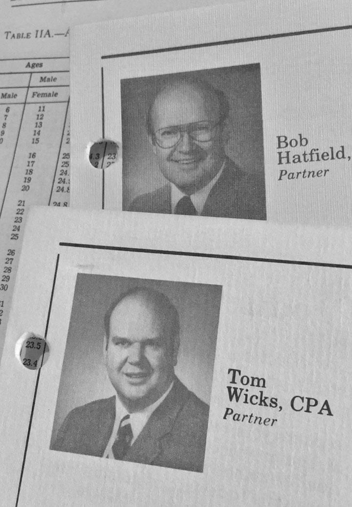 Wicks Emmett Founding Partners Bob Hatfield and Tom Wicks