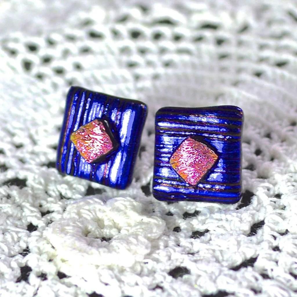 Wickstead's-AW-Designs-UK-Metallic-Blue-Sterling-Silver-Dichroic-Glass-Stud-Earrings-(2)