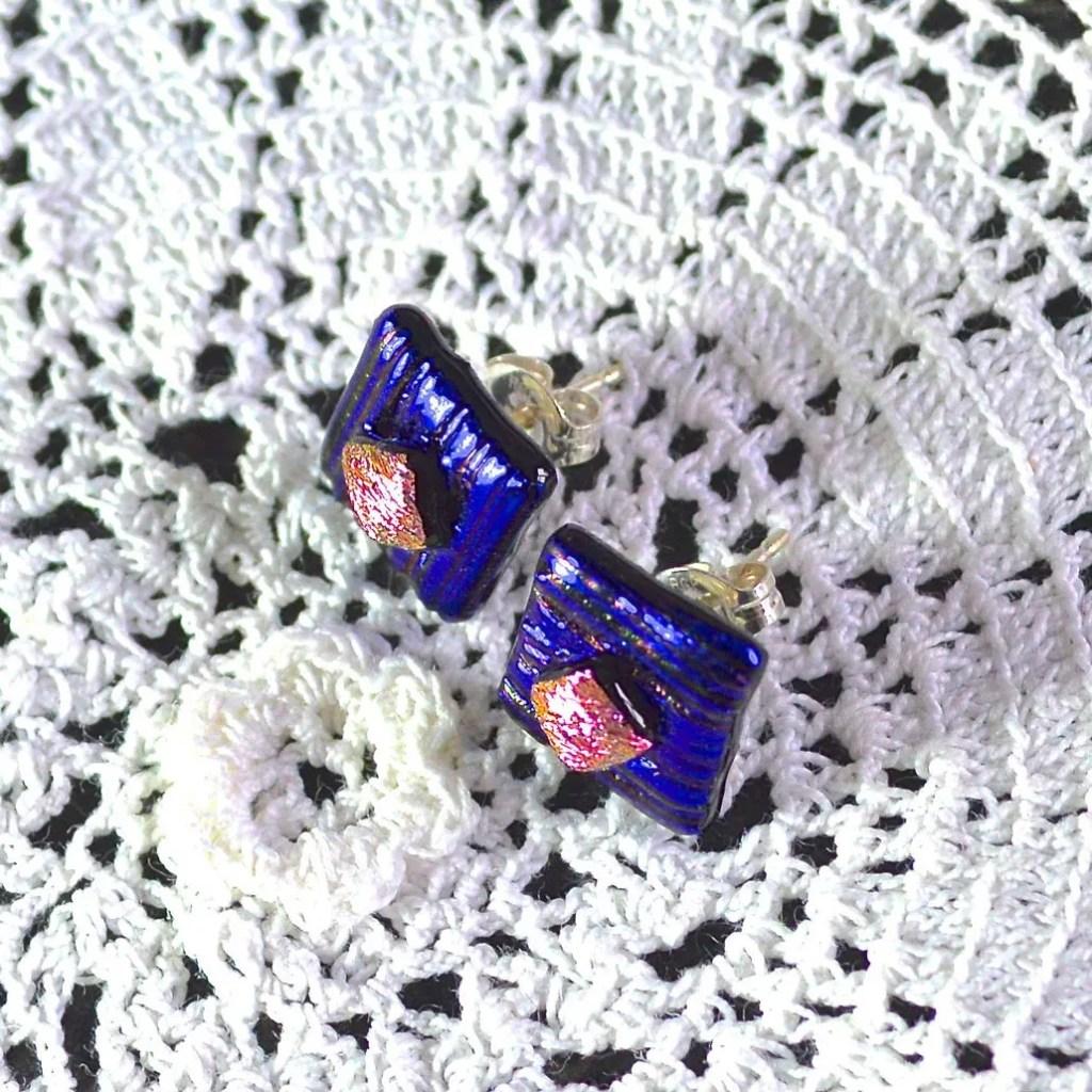 Wickstead's-AW-Designs-UK-Metallic-Blue-Sterling-Silver-Dichroic-Glass-Stud-Earrings-(4)