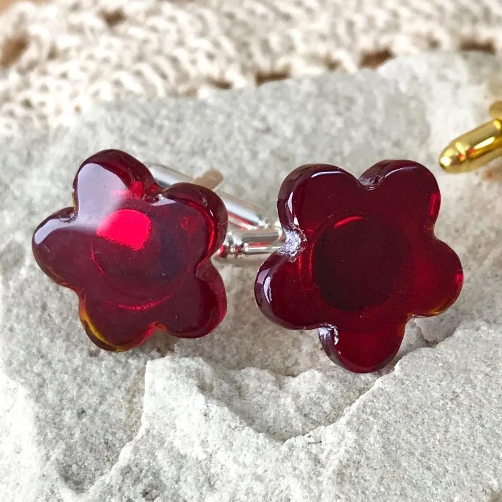 Wickstead's-AWDesigns-Deep-Red-Flower-Fused-Glass-Cufflinks-(7)