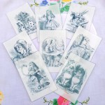 8 x Large Alice Illustrations