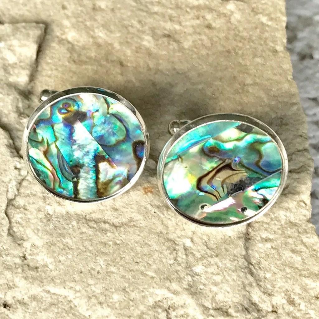 Wickstead's-Mr-Wickstead-Abalone-Paua-Shell-Set-Silver-T-Bar-Cufflinks-Colourful-Iridescent-Blue-Green-Rainbow-(5)