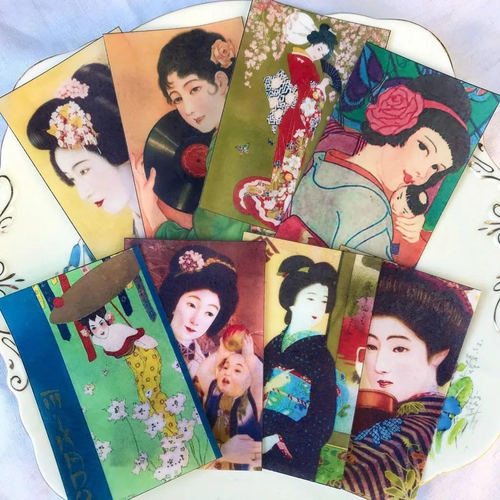 Wickstead's Eat Me Edible Japanese Geisha Rectangles