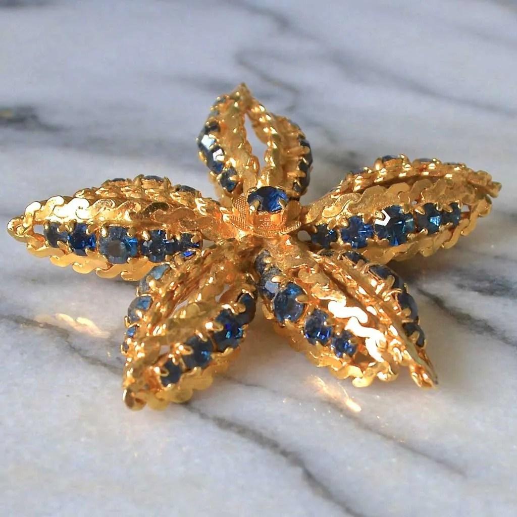 Wicksteads-Jewels-and-Treasures–Vintage-Jewellery-Brooch-Star-Flower-(3)