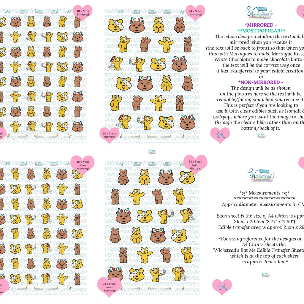 Wickstead's-Eat-Me-Edible-Meringue-&-Chocolate-Transfer-Sheets–Pudsey-&-Blush-Children-in-Need-Charity-Characters-Sheets-10