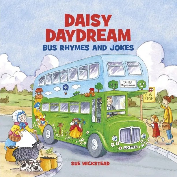 Daisy Daydream Bus Book Cover – Ryhmes and Jokes