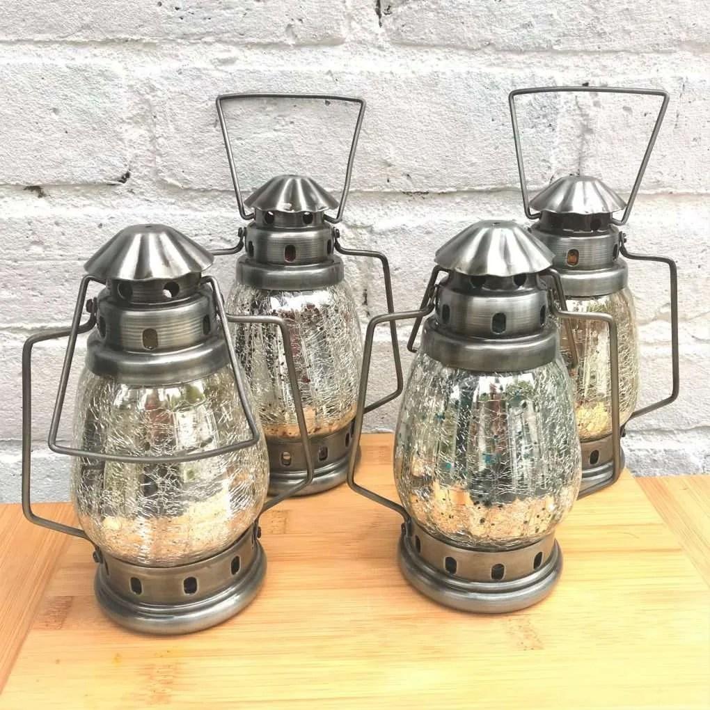 LT91 small silver lanterns (2)