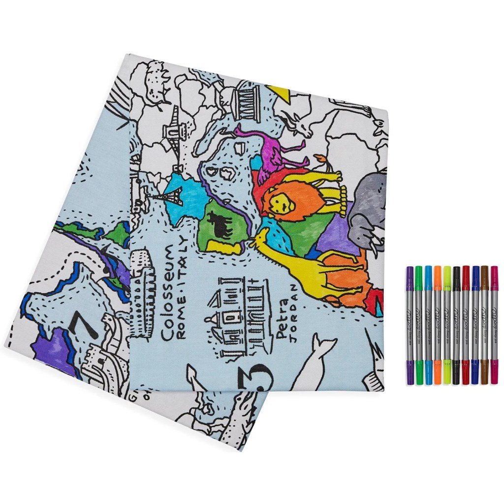 MAPTS world map tablecloth cutout 1 (with brown pen)