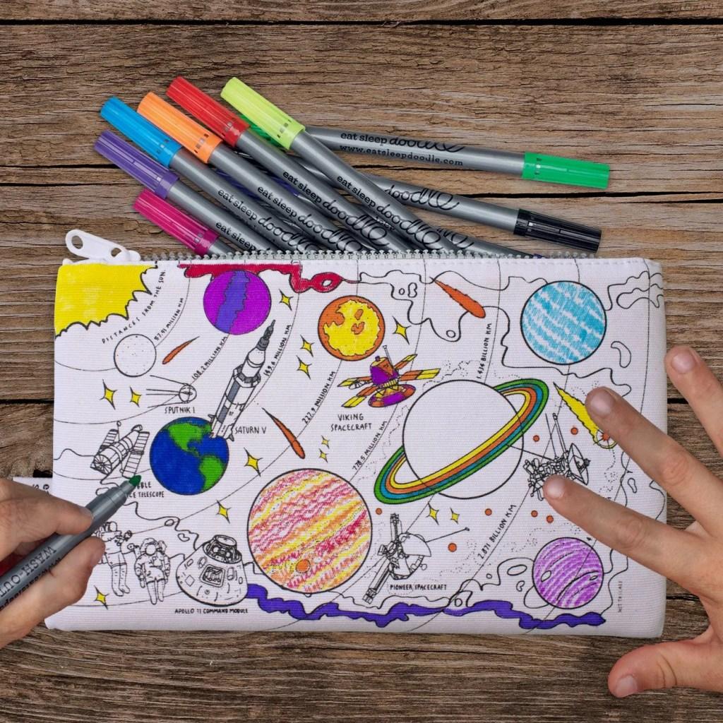 SPPEN space explorer pencil case cutout lifestyle